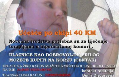 Humanitarni malonogometni turnir za Jasmina Dizdarevića